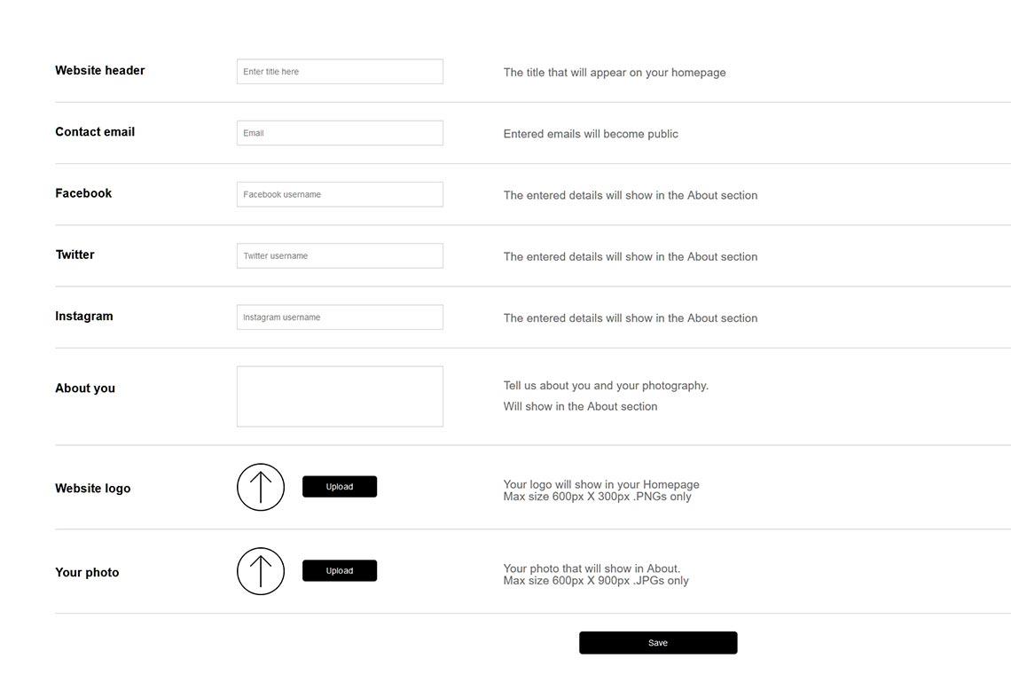 Основные возможности настройки для сайтов на базе Viewbug