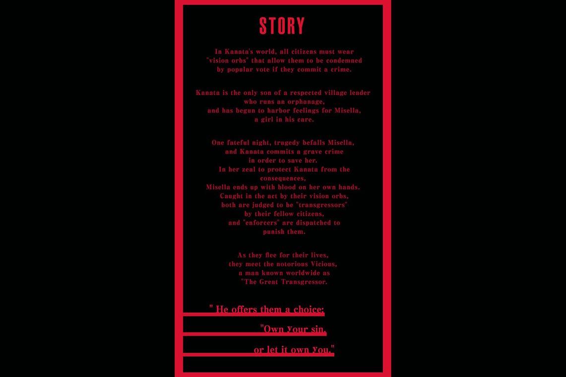 """Предыстория мобильной игры """"Сказания Крестории"""" (TALES OF CRESTORIA) и персонажа Каната Хьюгер (Kanata Hjuger) на английском языке"""