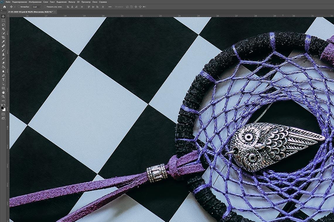Результат использования инструмента пыль и царапины в Adobe Photoshop (пример быстрой ретуши фото)