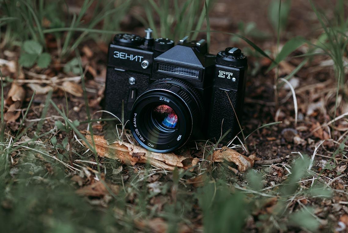 Стоковые ретро фото для инстаграм - красивая подборка с камерой зенит