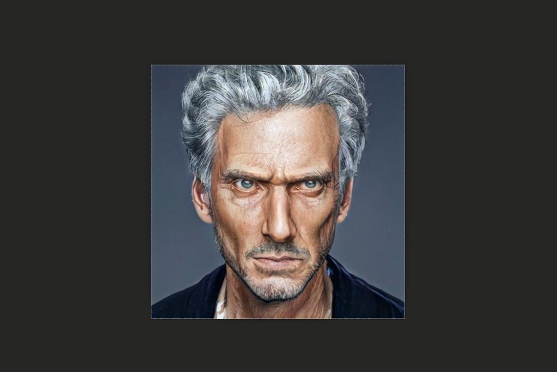 Аватарка для социальной сети, сделанная в Artbreeder из фото Питера Капальди