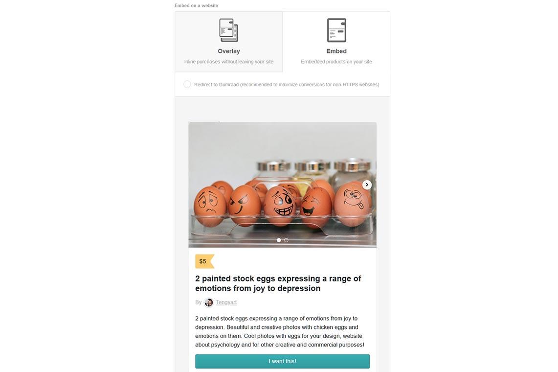 Как внедрить окно покупки на Gumroad на CMS WordPress - пример настроек и инструкция по добавлению
