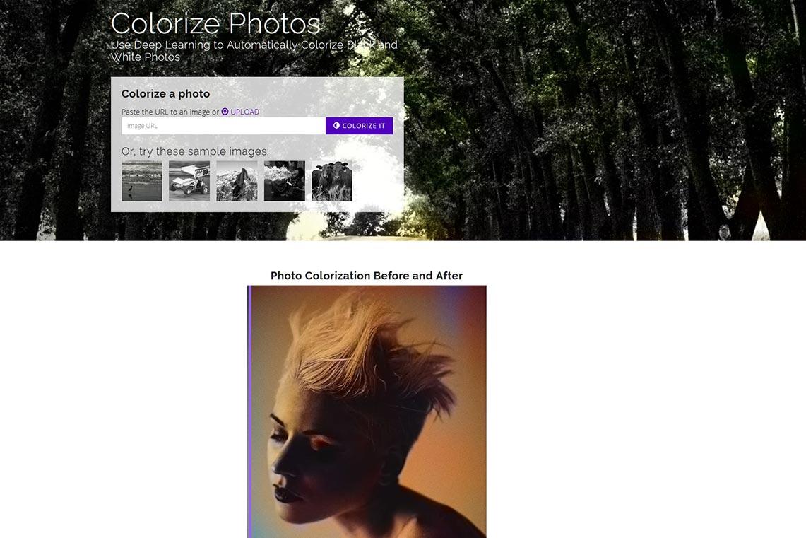 Колоризацмя чёрно-белых фото онлайн с помощью нейросети algorithmia - плюсы, минусы, пример раскрашенного фото на картинке
