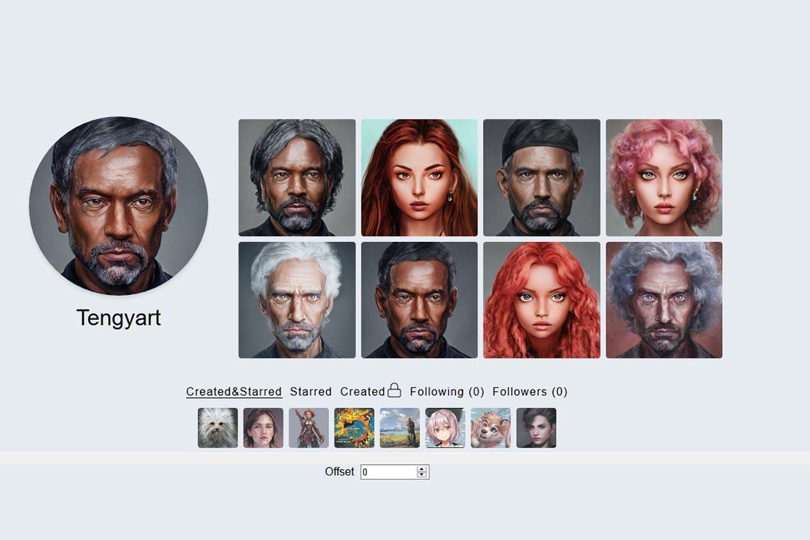 Нейросеть Artbreeder - бесплатный генератор картинки на аватарку, фото для профиля, портретов онлайн (примеры готовых изображений от Tengyart)
