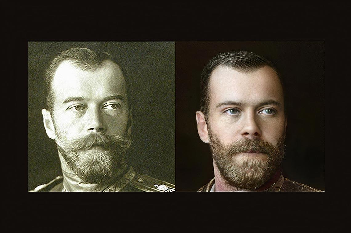 Портрет Николая 2 Романова, воссозданный в нейросети Artbreeder