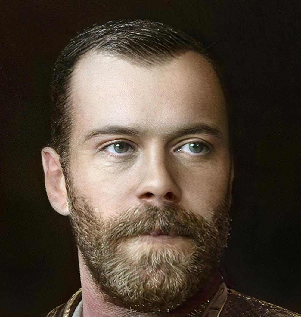 Портрет Николая 2 Романова в Artbreeder крупным планом