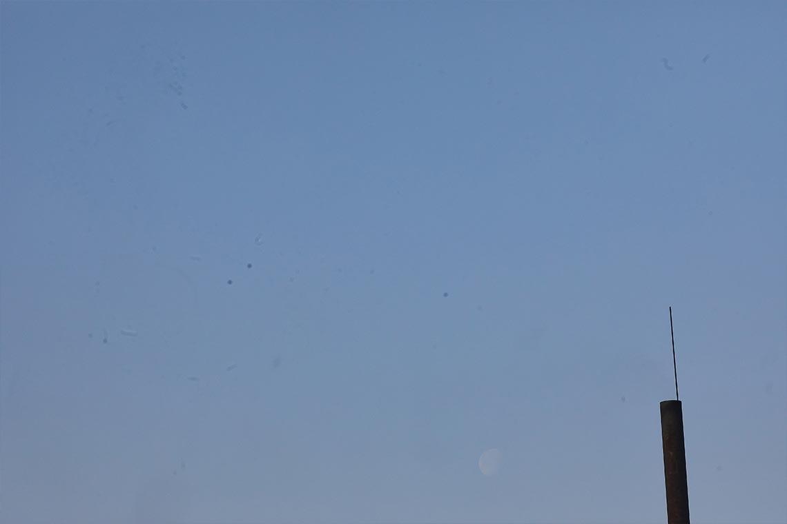 Пример фото с пылью и грязью, возникшей из-за загрязнения матрицы фотоаппарата