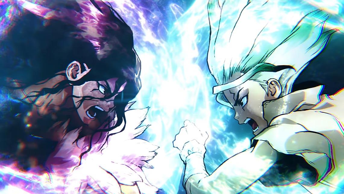 Арка каменные войны (Stone Wars) HD обои на рабочий стол из трейлера 2 сезона аниме Dr Stone