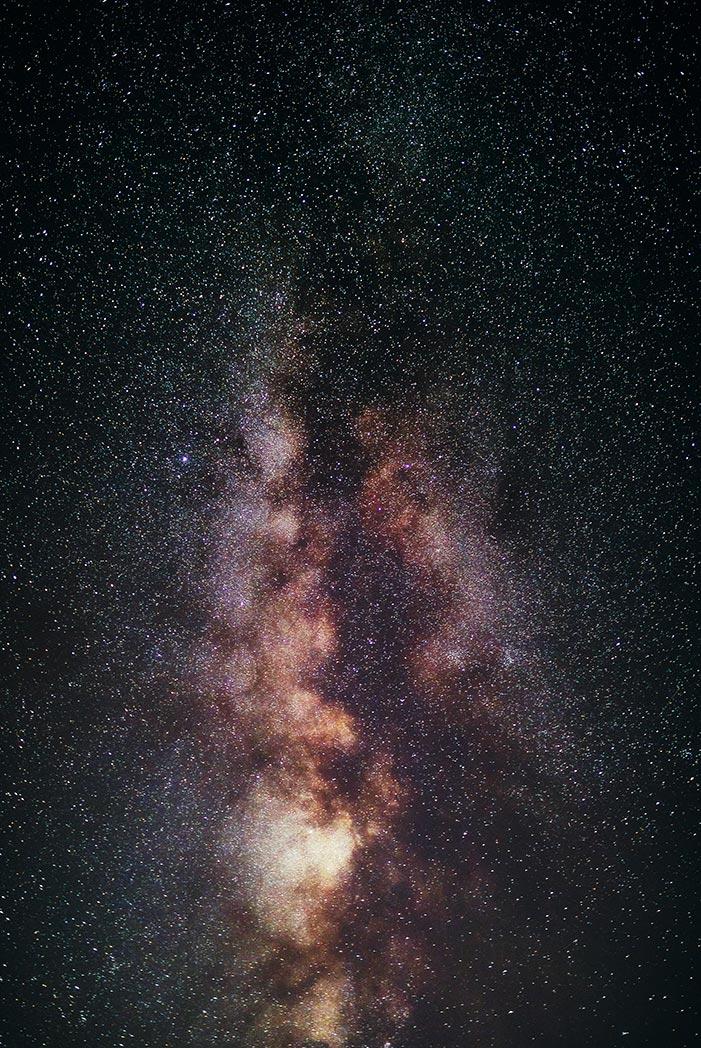 Стоковое фото с галактикой Млечный Путь - красивая заставка для смартфона