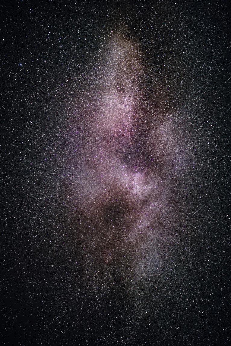 Фотография летнего звёздного неба на рабочий стол