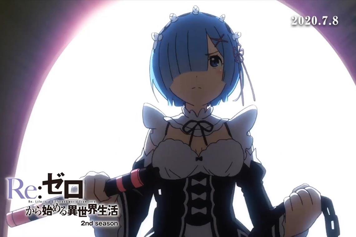 2 сезон аниме Re:Zero kara Hajimeru Isekai Seikatsu - подробности о дате выхода 1 и 2 половины сериала