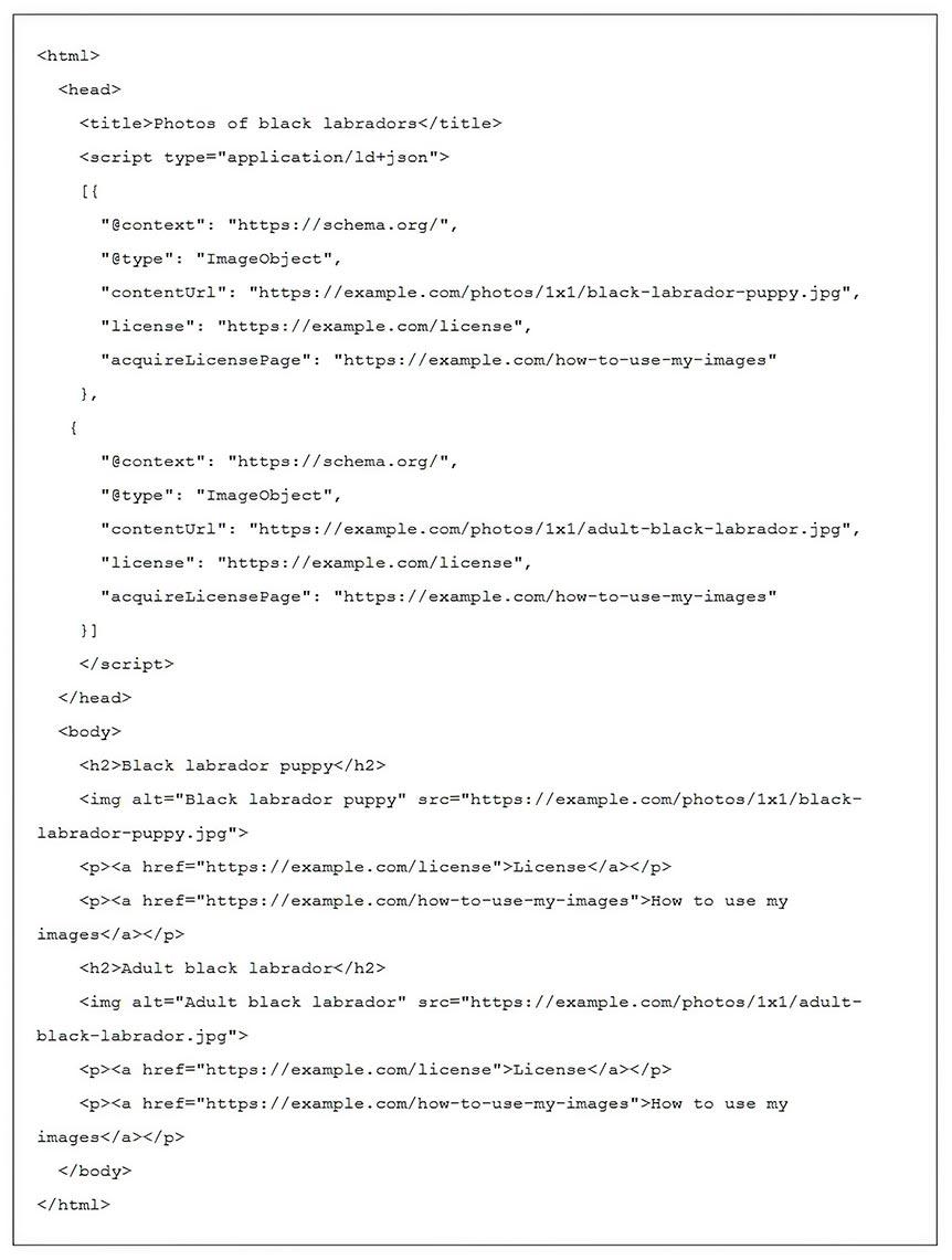 Добавлении лицензии картинок на сайте WordPress с помощью микроданных