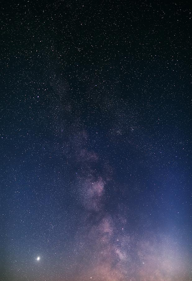 Пример фото со звёздным небом без шума