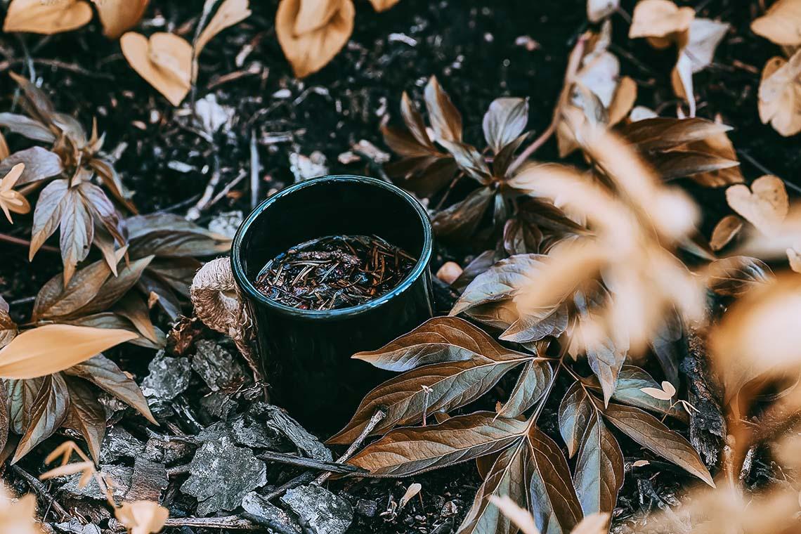 """Купить онлайн 3 фона для соцсетей """"Травяной чай с лесными ягодами в чёрной кружке"""" от 125 до 250 рублей! Коммерческое использование не ограничено!"""