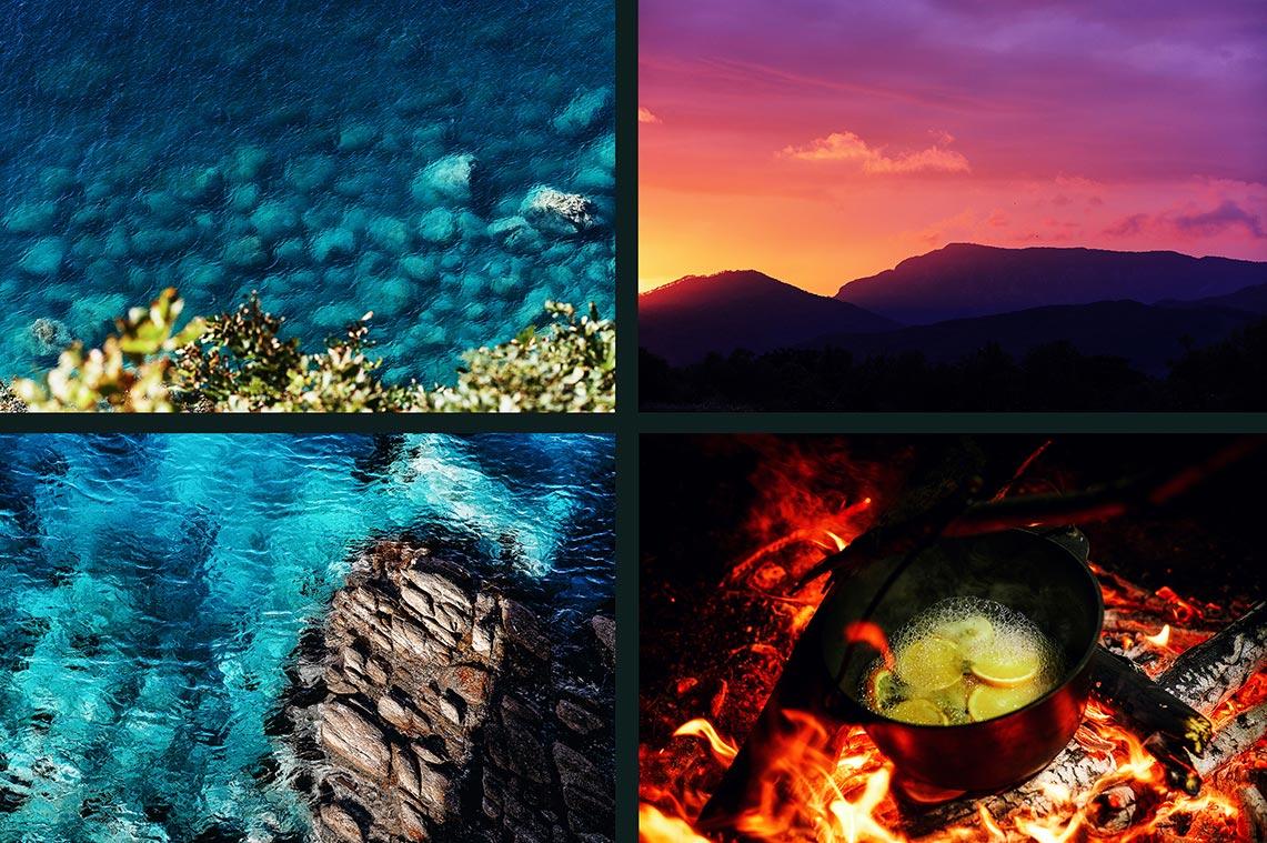18 стоковых фонов с красивым морем и текстурами (первые 4 снимка из серии, автор - фотограф Олег Мороз)