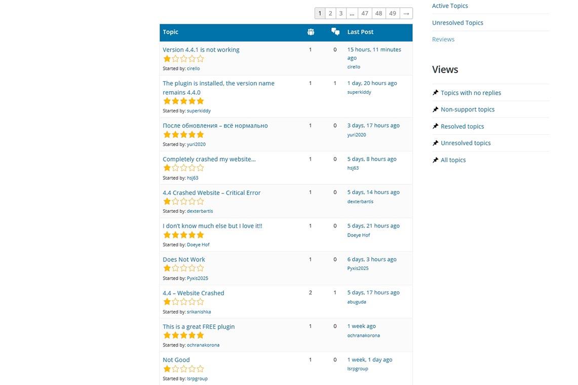 WooCommerce 4.4.1 вызывает критические ошибки WordPress 5.5 (пример отрицательных отзывов после появления багов)