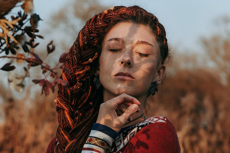 Закатная портретная фотосессия в Золотой Долине