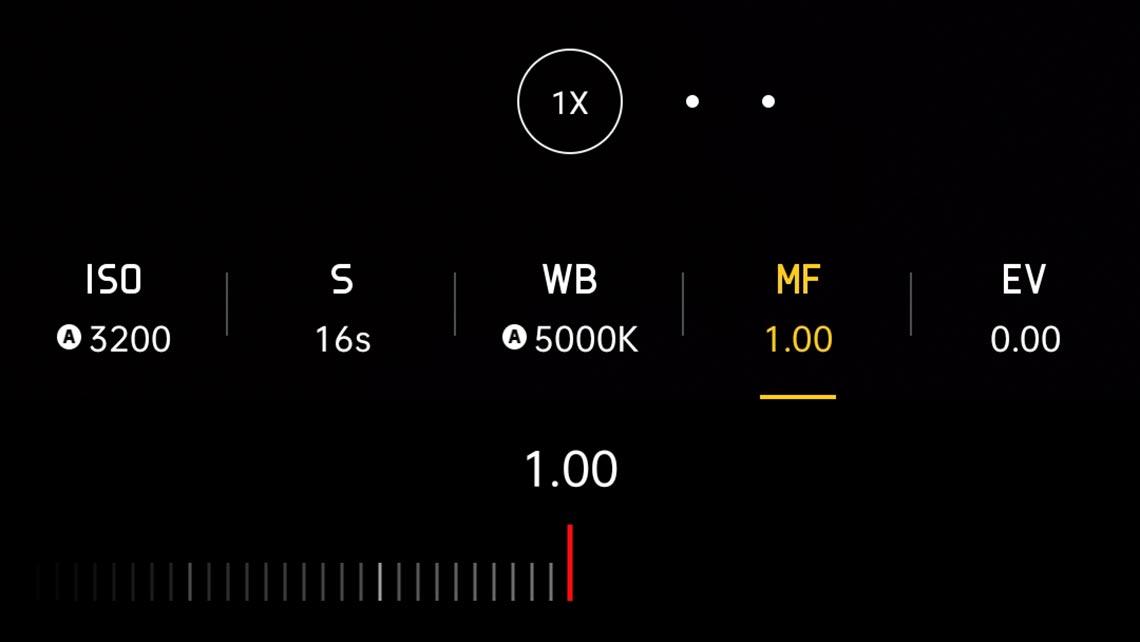 Настройки Realme XT для съёмки звёздного неба