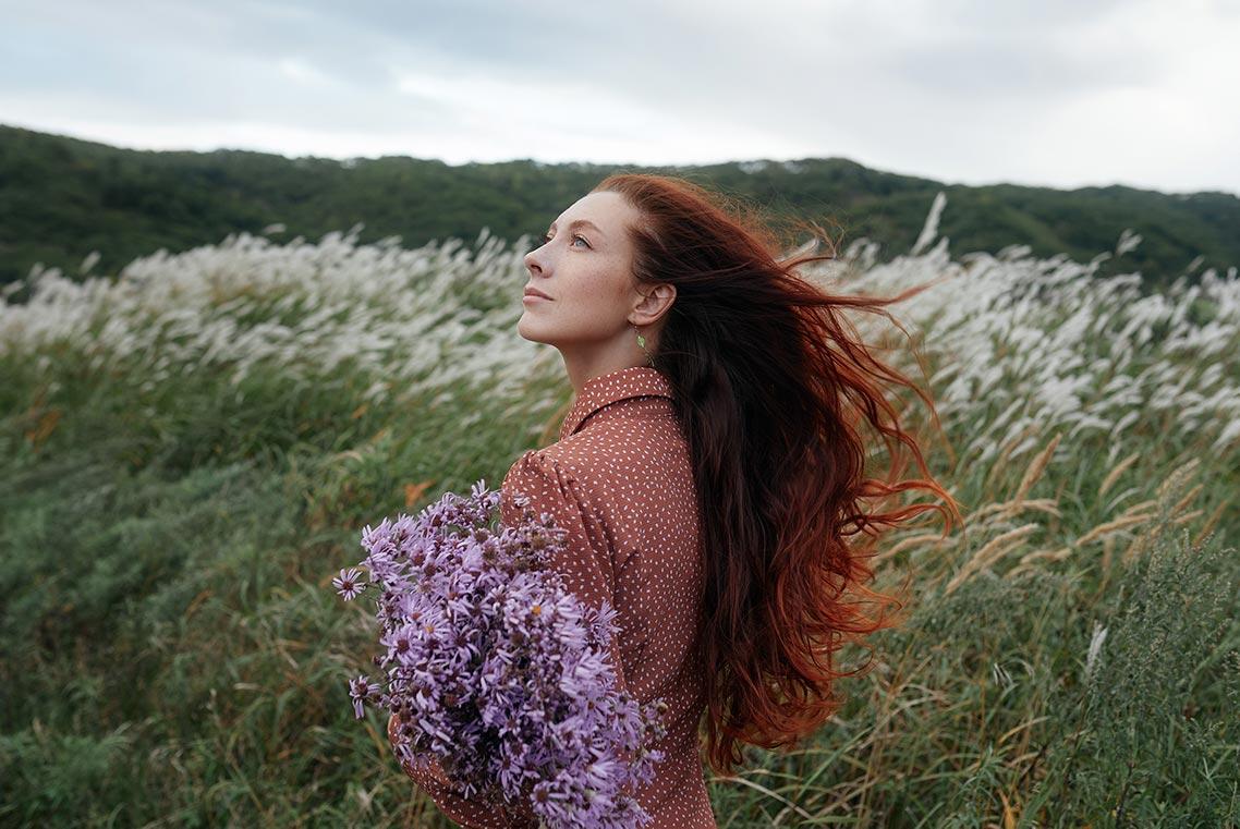 Портретный фотограф Золотая Долина | Стильные фотосессии для рыжеволосых девушек в Приморье