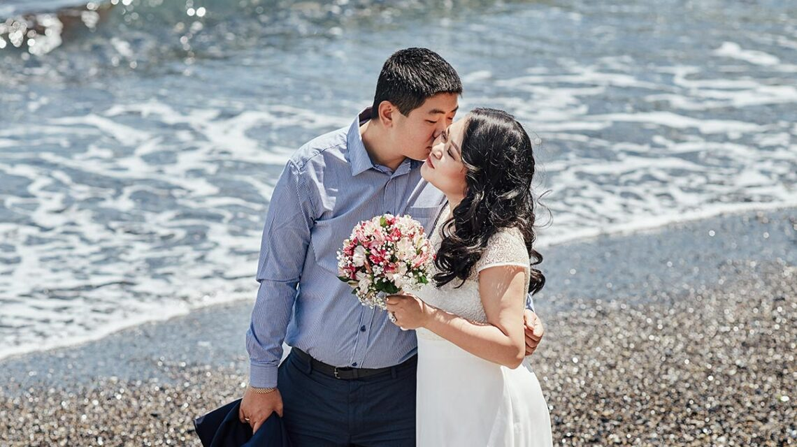 Романтическая свадьба у моря в Находке (фотограф Мороз)