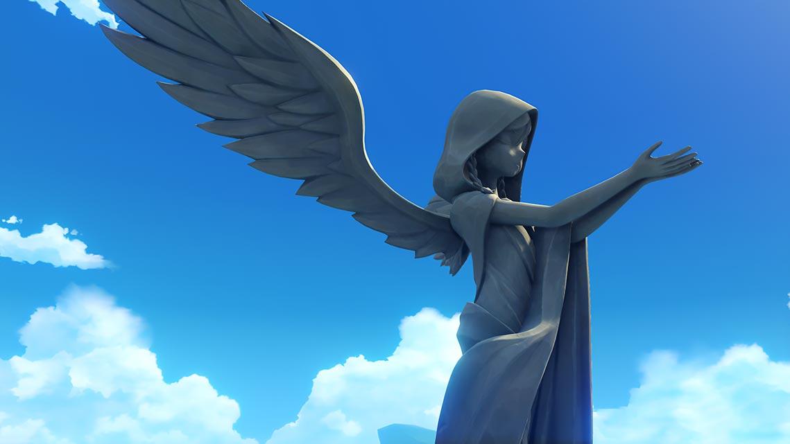 Статуя Барбадоса в Мондштадте (игра Genshin Impact, 2020 год)