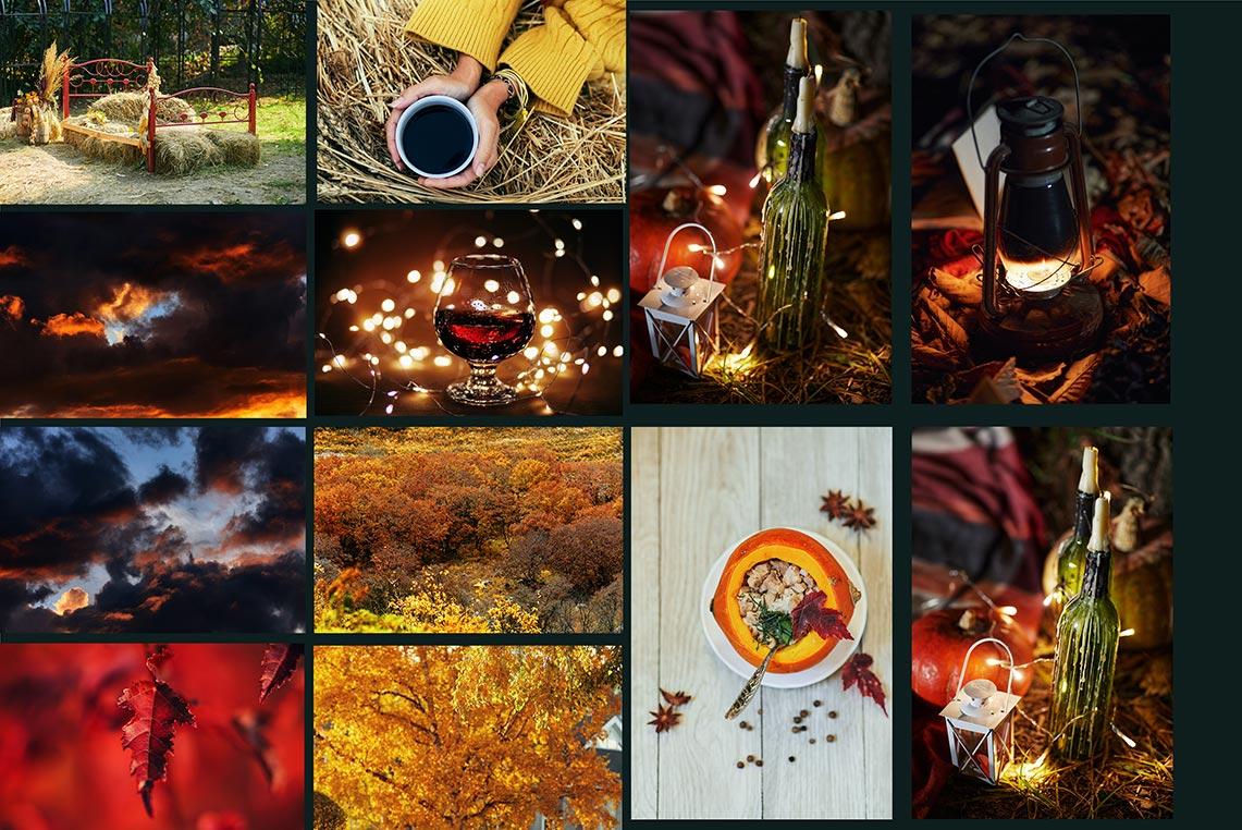 Осенние фоны, кружки, лампы и заставки для ПК - подборка для дизайна на все случаи жизни