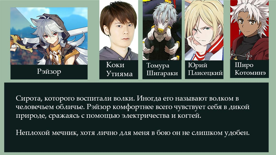 Рэйзор - персонаж игры Genshin Impact (подробности)