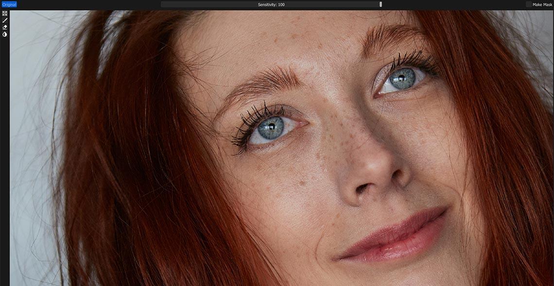 Образец крупного лицевого портрета для теста нейронной сети