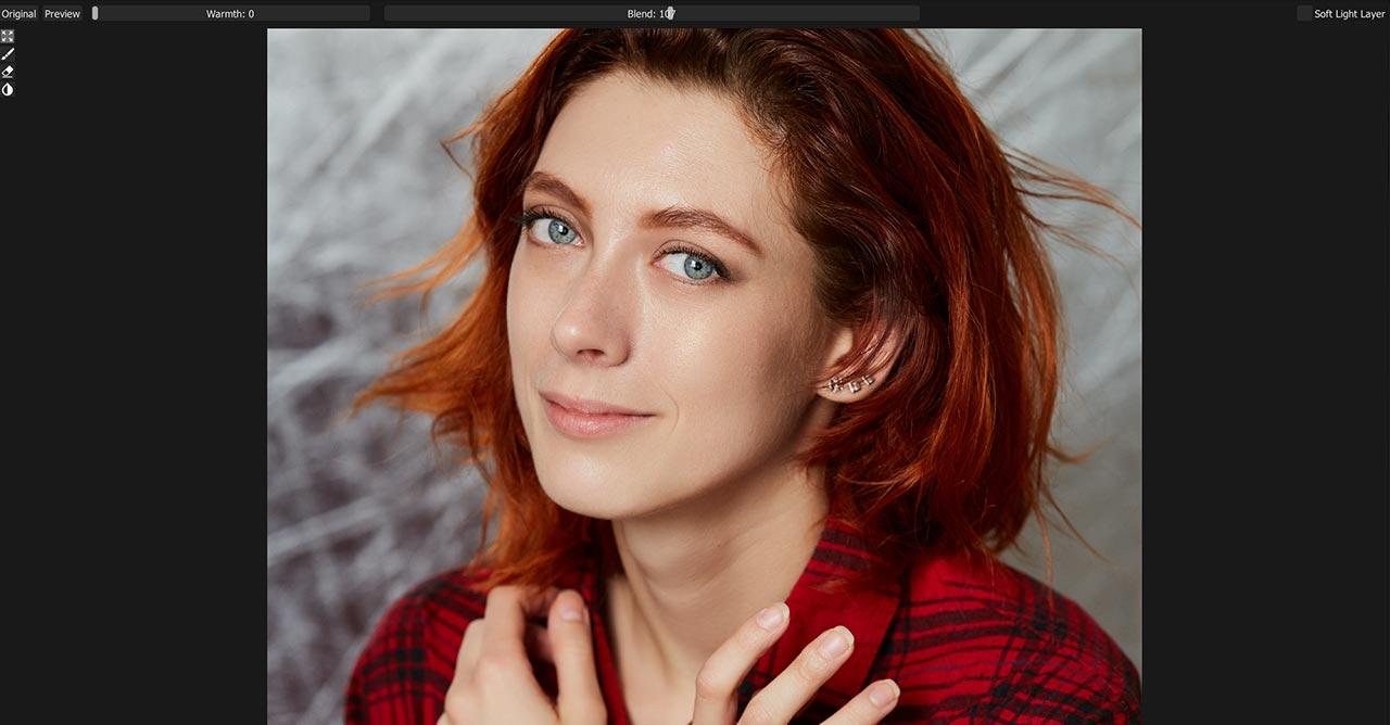 Пример портрета после ретуши в Retouch4me Dodge and burn