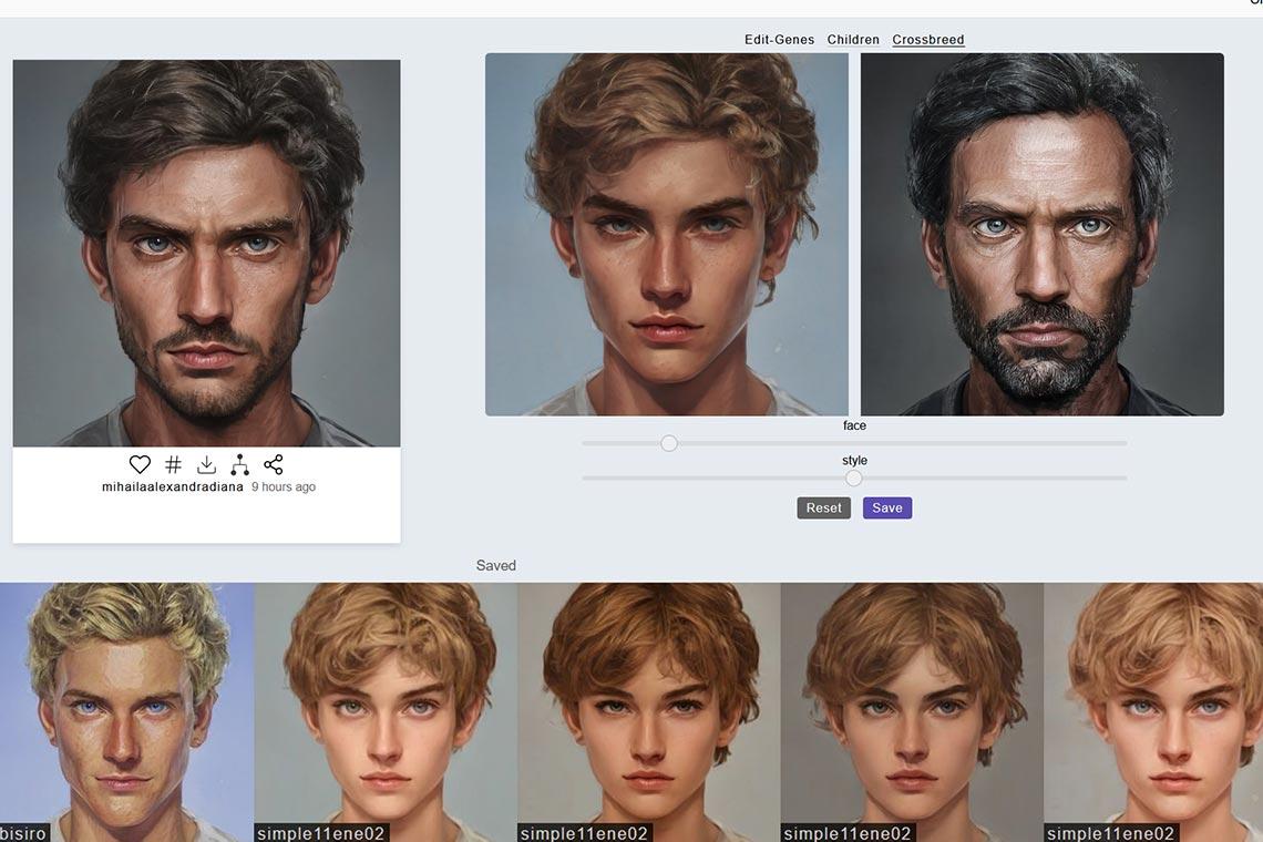 Создание портрета, арта или аватарки с помощью Crossbreed в Artbreeder (инструкция и пример аватара для Твиттер и Инстаграм)
