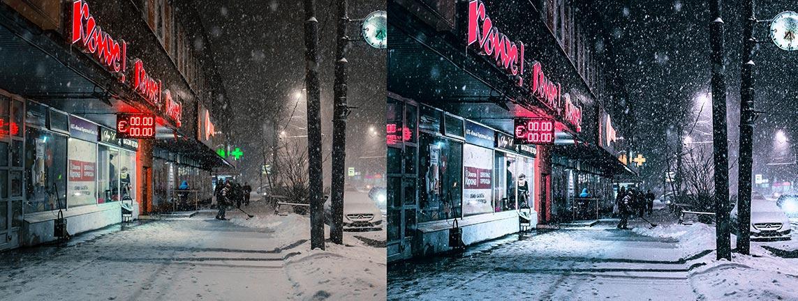 Фильтры для инстаграм в Capture One 20 | Пример фото ночного города с обработкой