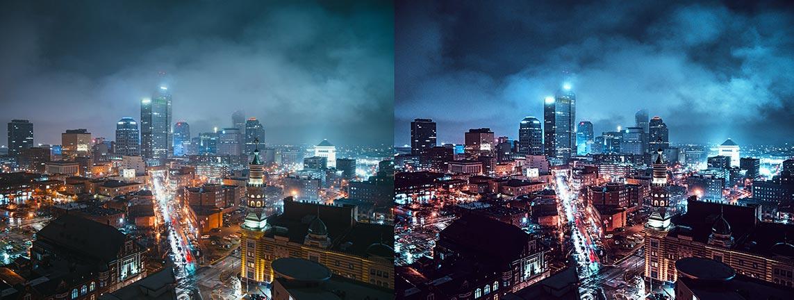 Фильтры для обработки ночного города под инстаграм в Capture One