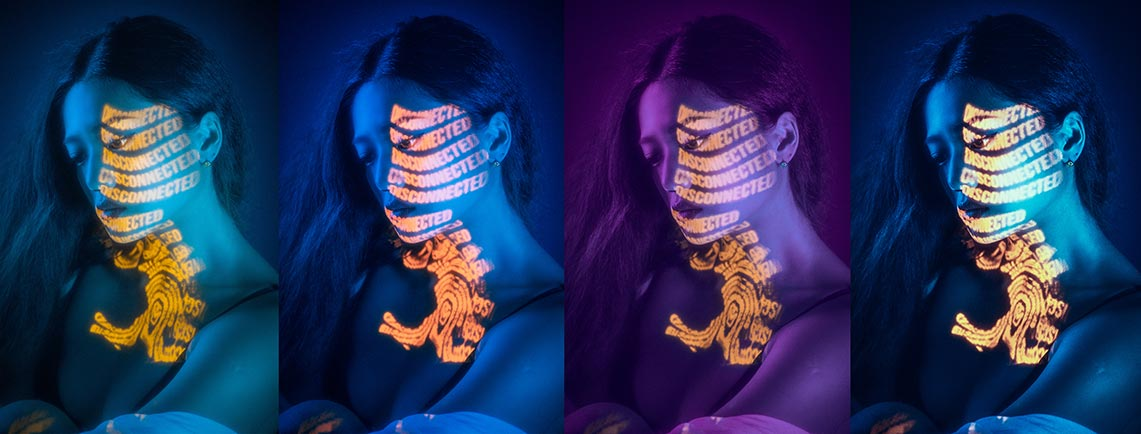 Фото девушки с неоновой подсветкой - пример стилей Capture One 20