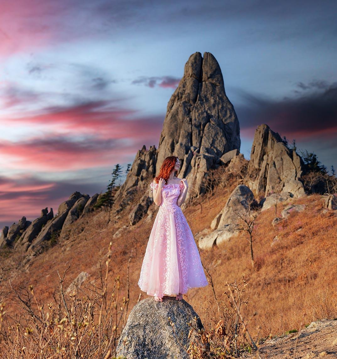 Фотосессия для девушек в горах Владивосток