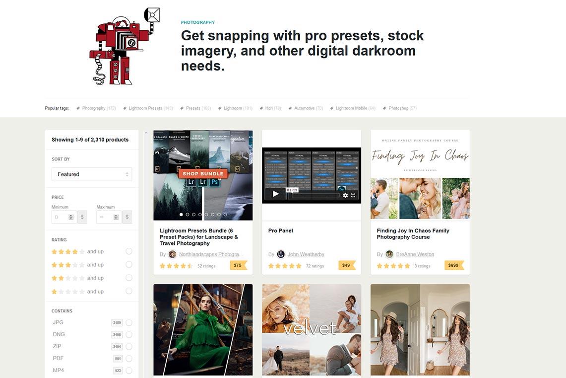 Gumroad Discover для продажи фотографий в 2021 году