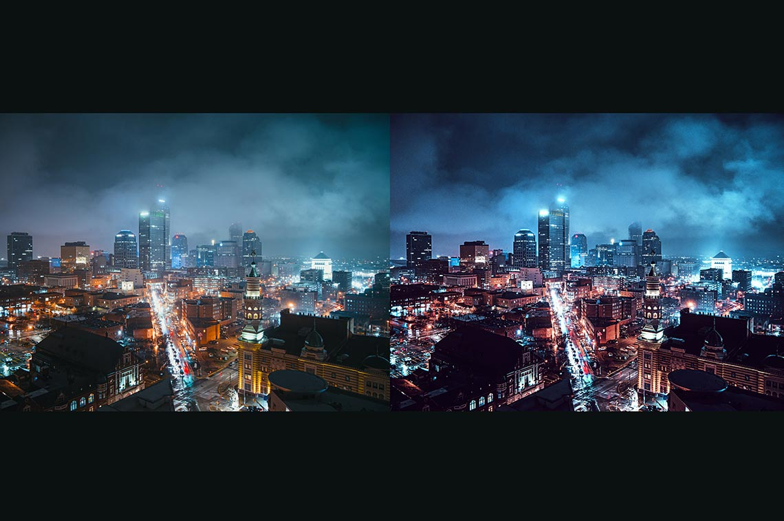 Neon Vibe Capture One 20 - 70 стилей для обработки фото | фильтры для ночного города