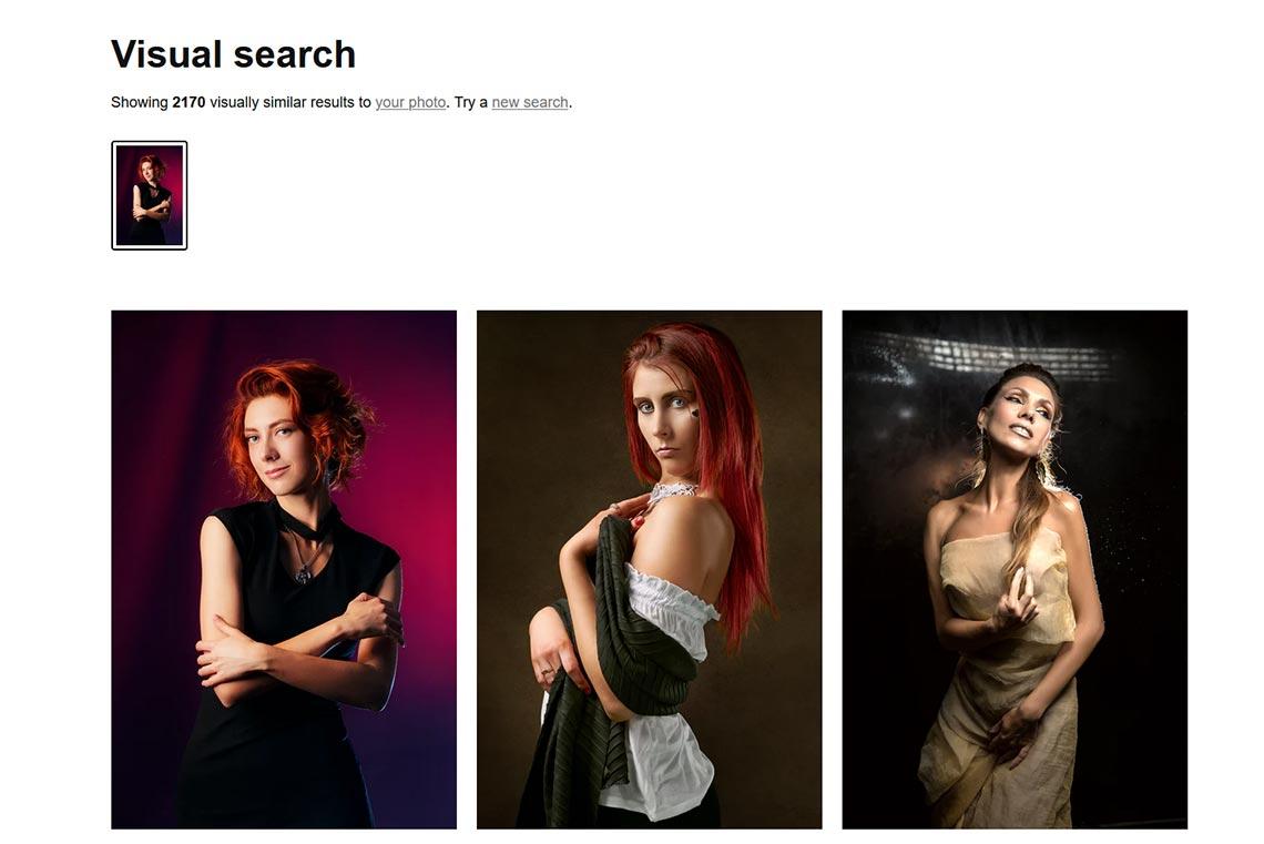 Визуальный поиск в Unsplash (Visual Search)