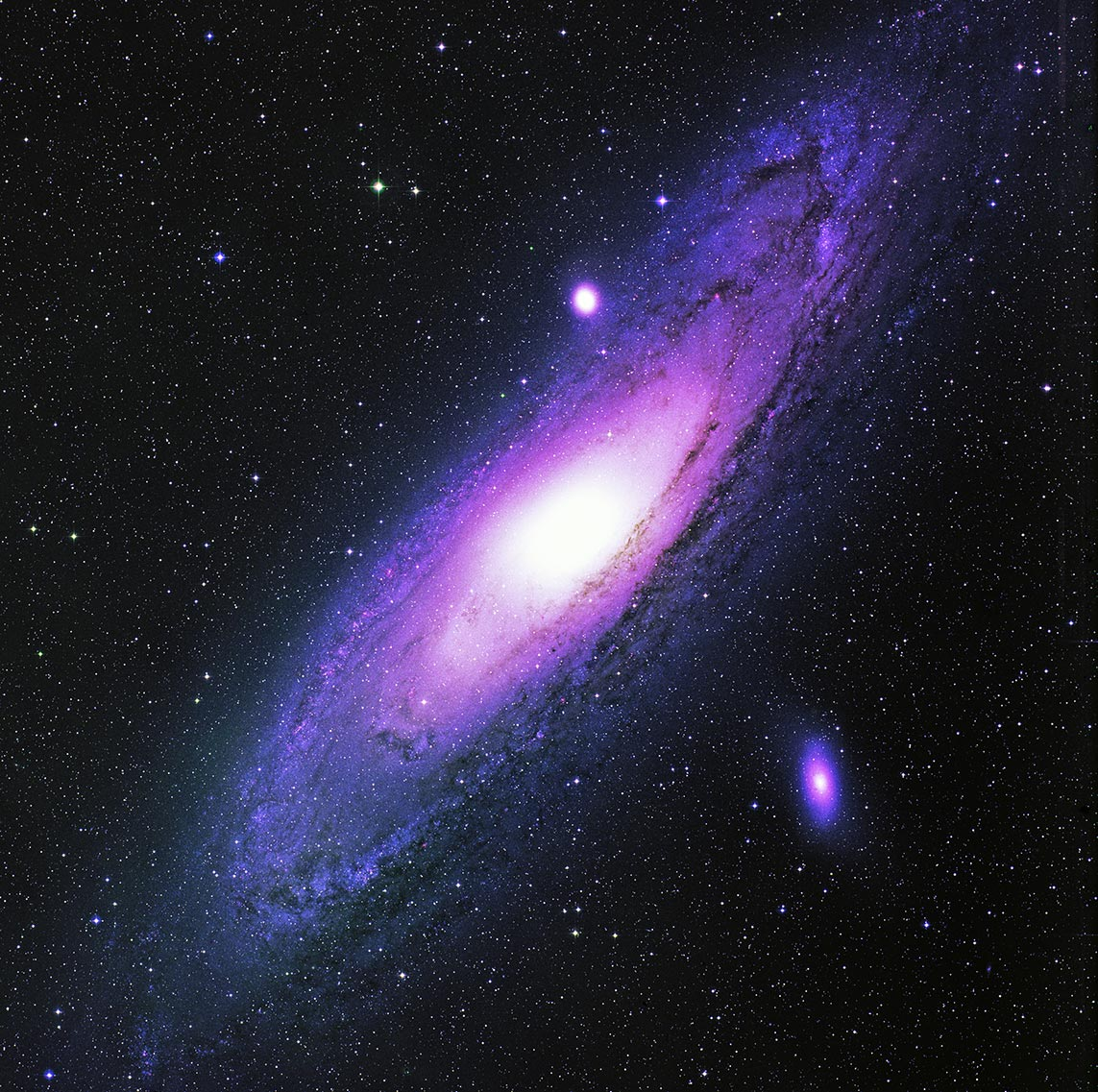 Фото туманности Андромеды (постобработка FITS в Adobe Photoshop 2021)