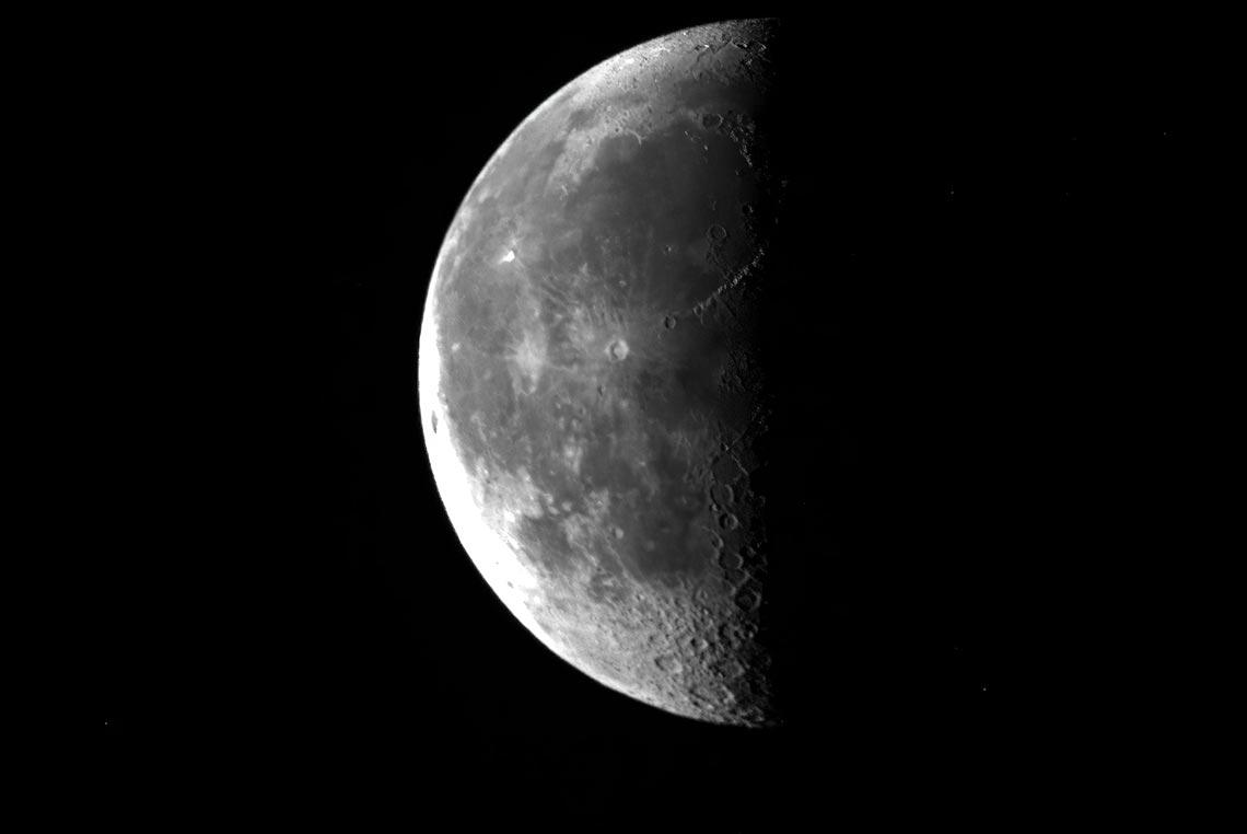 Удалённая съёмка Луны на онлайн телескоп в 2021 году