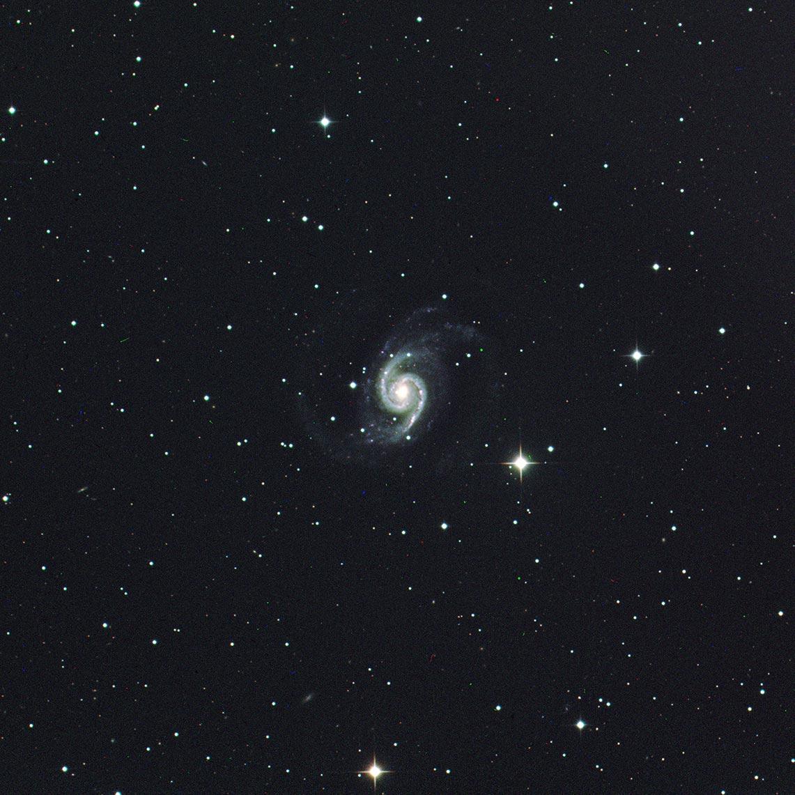 Спиральная галактика NGC 1566, фото 2021 года