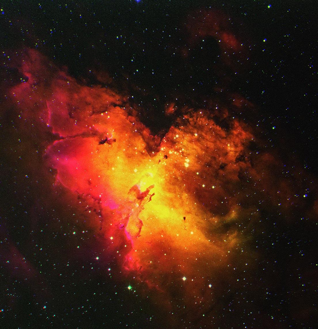 Eagle Nebula (туманность Орёл), автор Tengyart