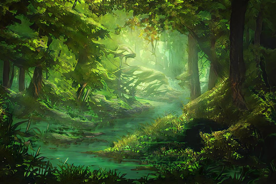 Пейзаж в нейросети Artbreeder