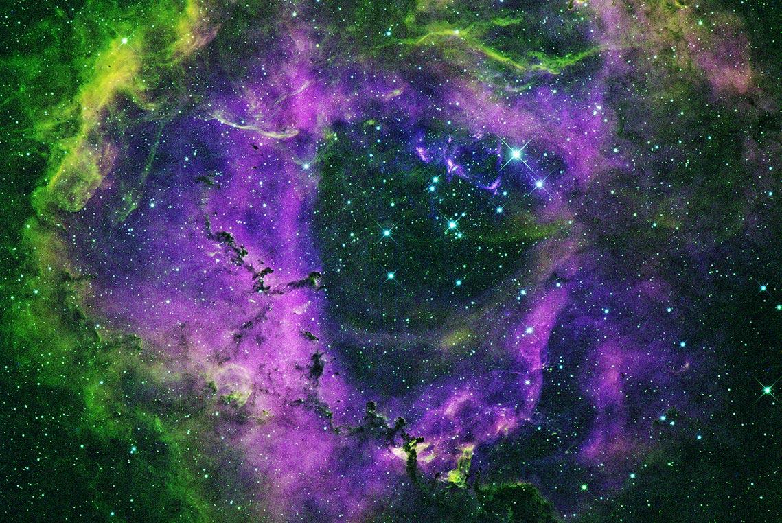 Туманность Розетка - астрофото для вебсайта и соцсетей