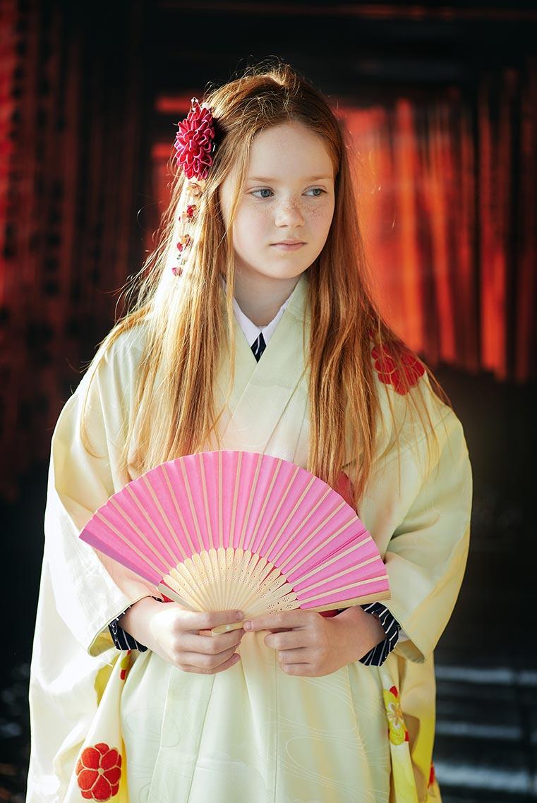 Фотосессия для девушки в образе гейши (Находка, 2021 год)