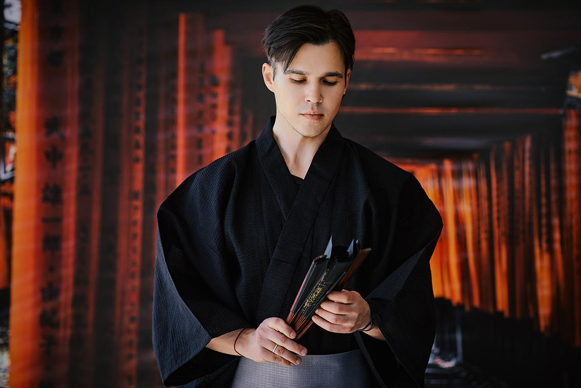 Мужская фотосессия в кимоно в Находке