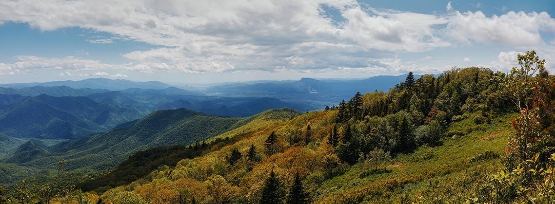 Гора Макариха (панорамное фото с вершины)