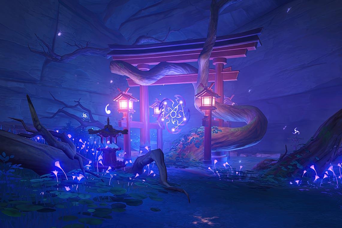 Святилище в пещере под деревней Конда | Инадзума, игра Genshin Impact