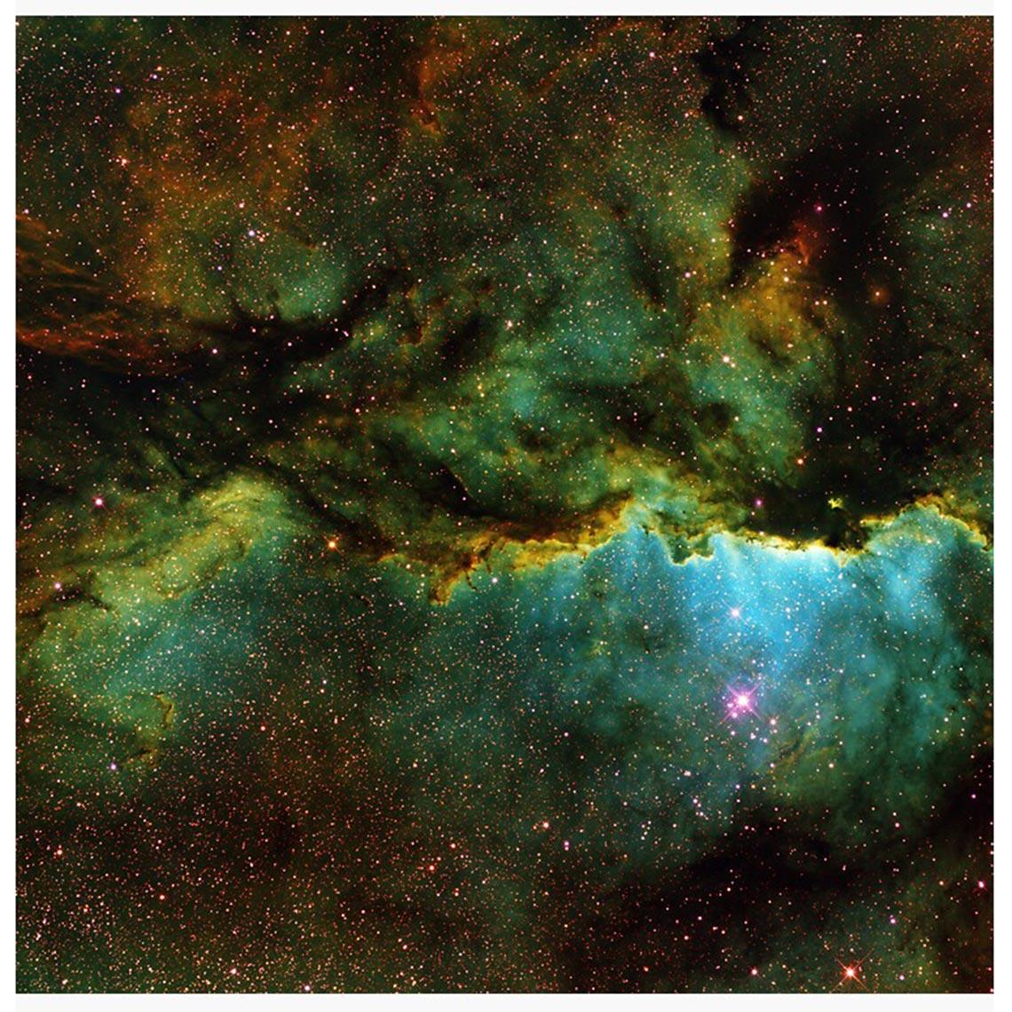 Стикер с туманностью NGC 6188 | Rim Nebula vinyl sticker