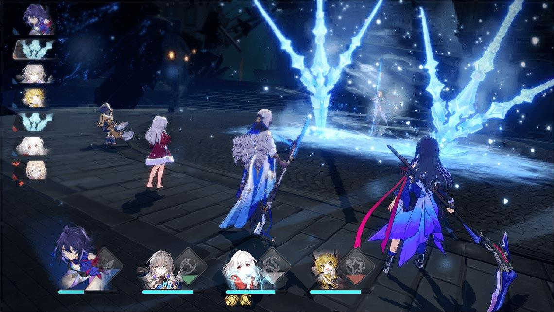 Пример пошагового сражения в игре Honkai: Star Rail (сцена с официального сайта)